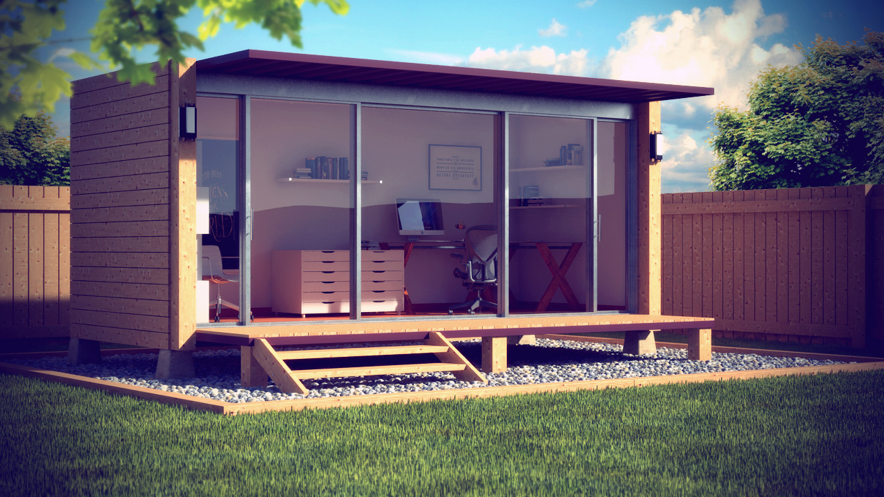 The garden office ideas for garden backyard and space for Garden office buildings