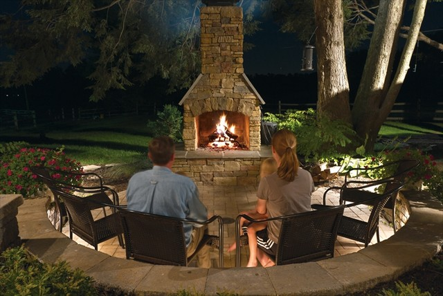 The Outdoor Fireplace Ideas For Garden Backyard And Space Around The House