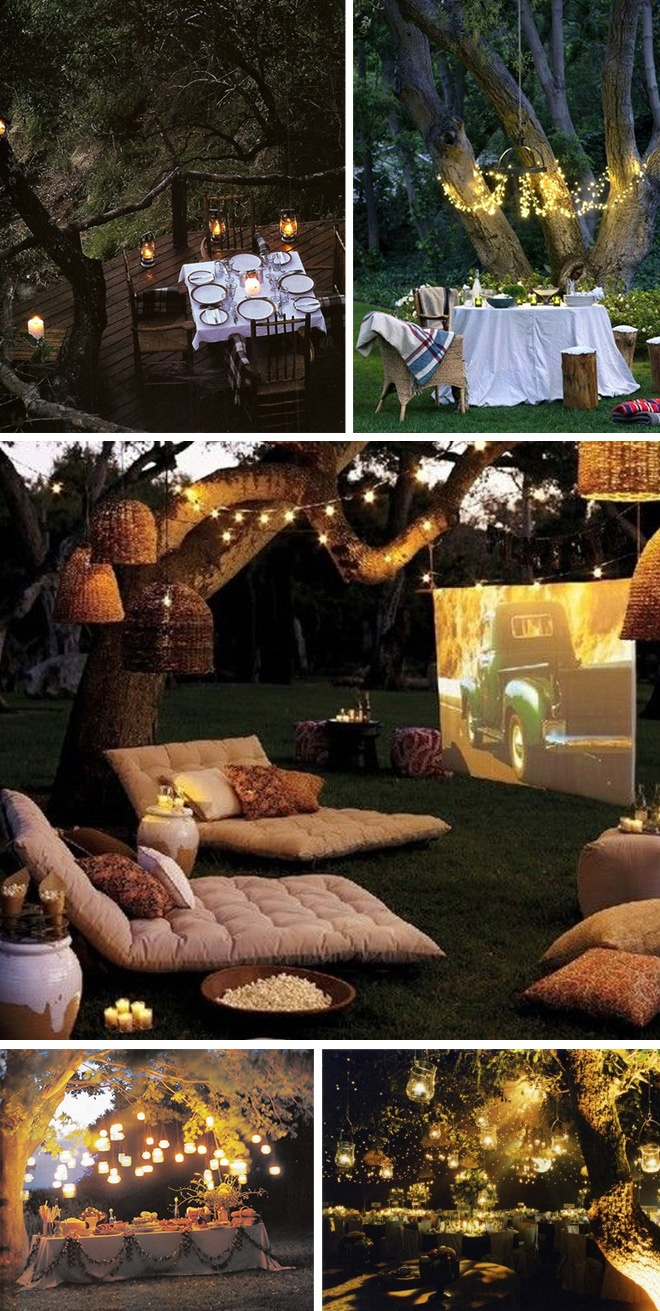 Low budget garden party decorations ideas for garden for Outside lighting ideas for parties