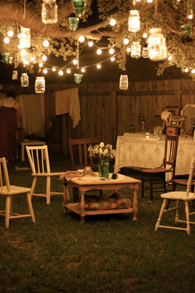 Low budget garden party decorations ideas for garden for Backyard engagement party decoration ideas